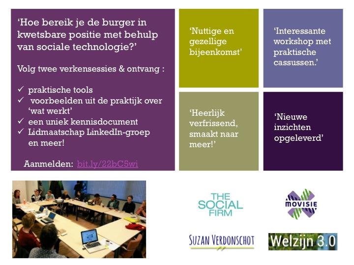Bereik de burger in kwetsbare positie met behulp van sociale technologie