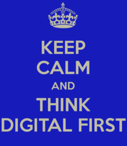 keep calm and think digital first met Welzijn 3.0